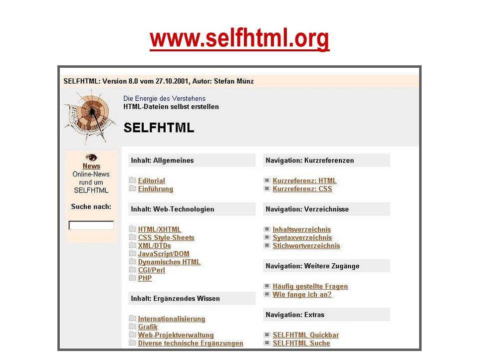 www.selfhtml.org