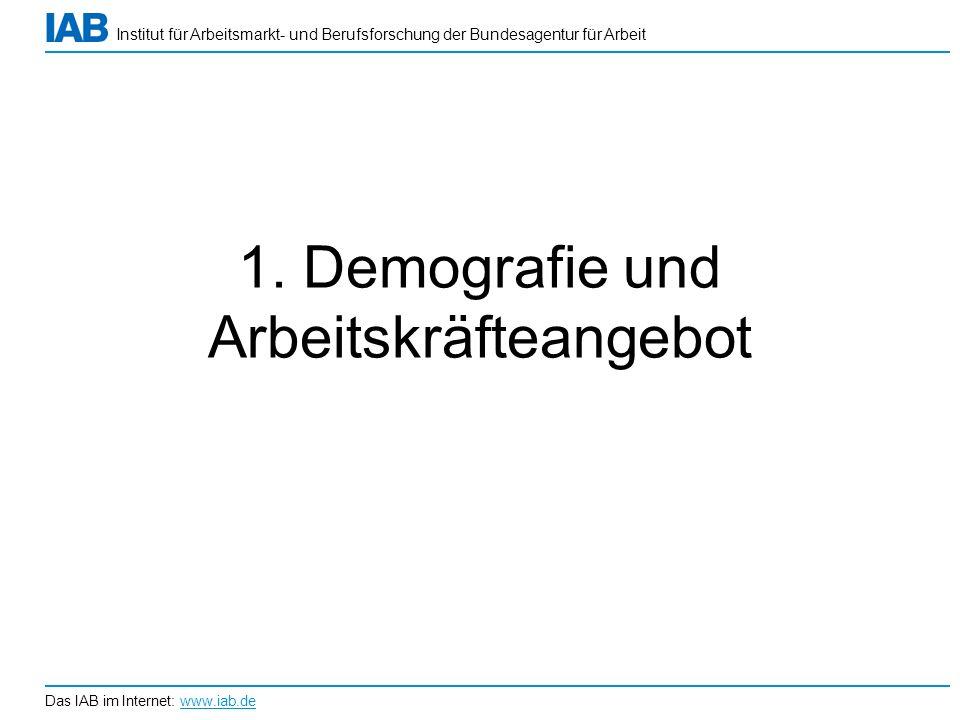 1. Demografie und Arbeitskräfteangebot