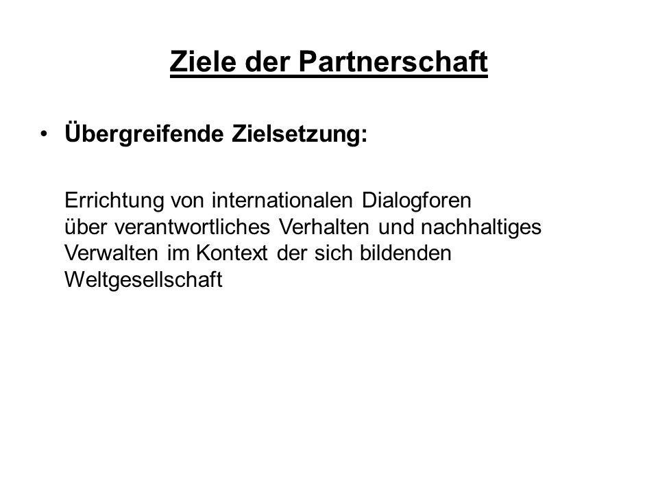 Ziele der Partnerschaft