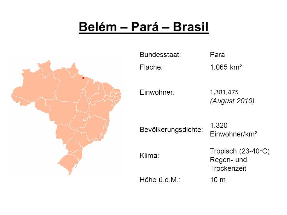 Belém – Pará – Brasil Bundesstaat: Pará Fläche: 1.065 km² Einwohner: