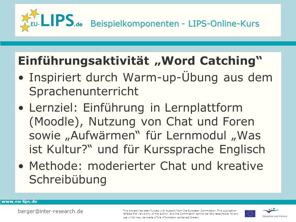 Beispielkomponenten - LIPS-Online-Kurs