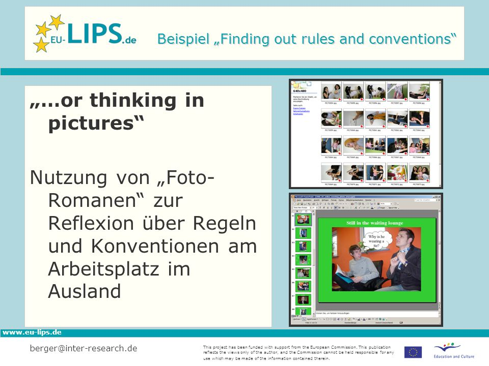 "Beispiel ""Finding out rules and conventions"
