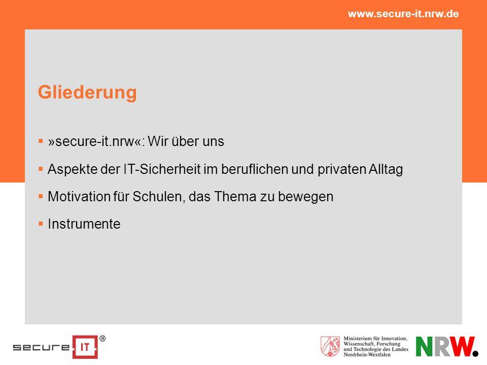 Gliederung »secure-it.nrw«: Wir über uns