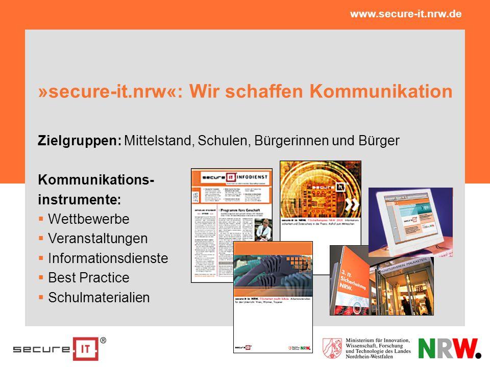 »secure-it.nrw«: Wir schaffen Kommunikation