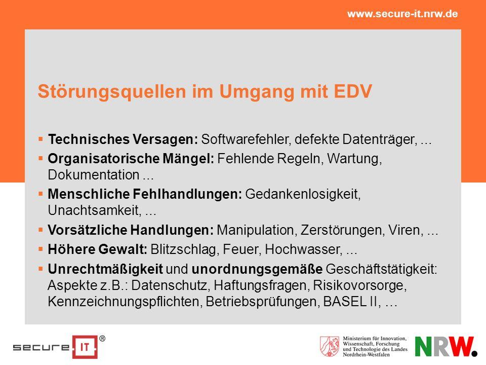 Störungsquellen im Umgang mit EDV