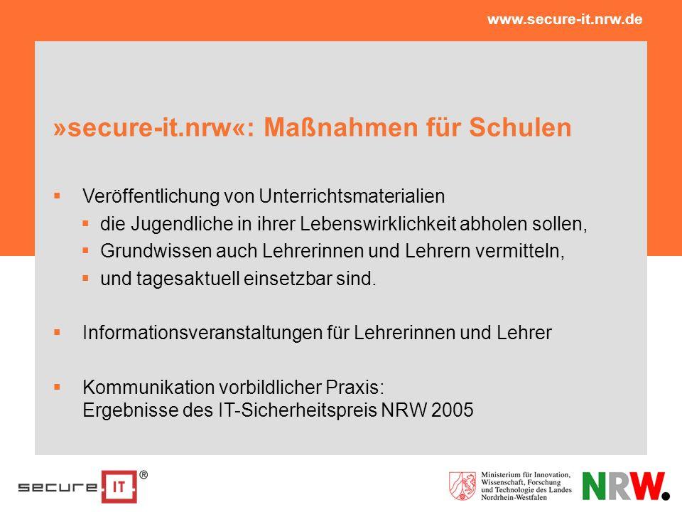 »secure-it.nrw«: Maßnahmen für Schulen