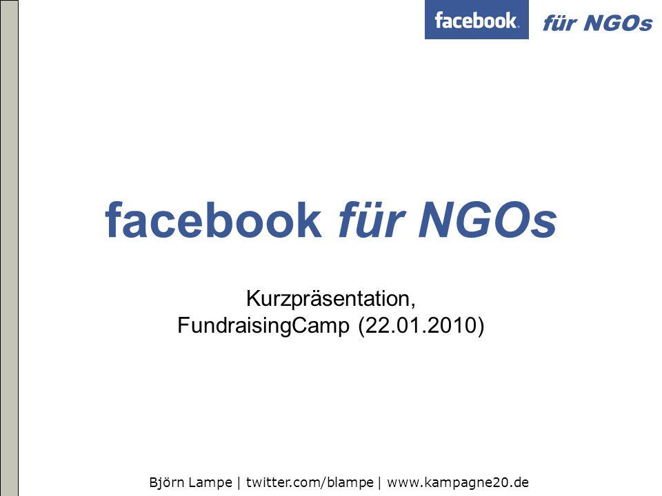 Kurzpräsentation, FundraisingCamp (22.01.2010)