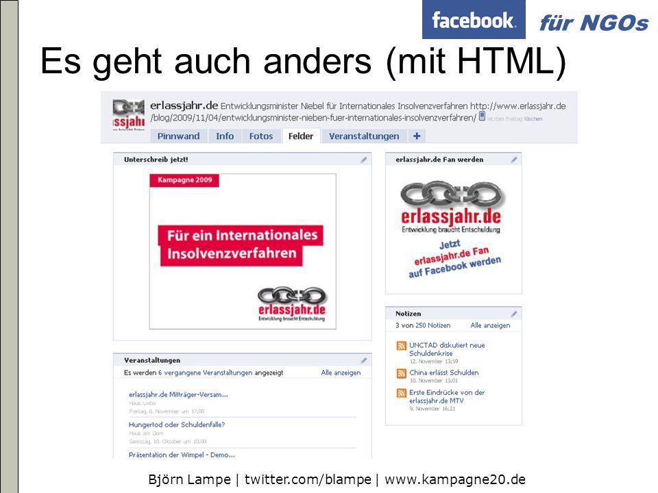 Es geht auch anders (mit HTML)