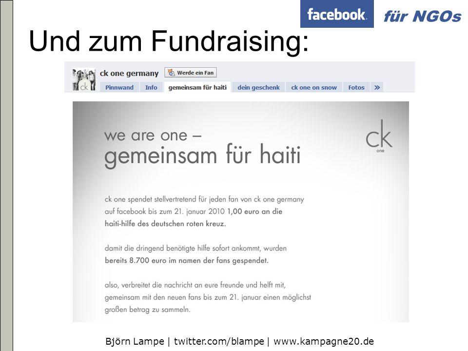 Und zum Fundraising: