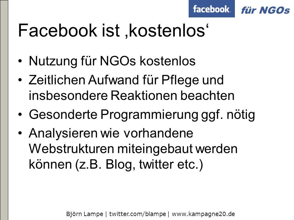 Facebook ist 'kostenlos'