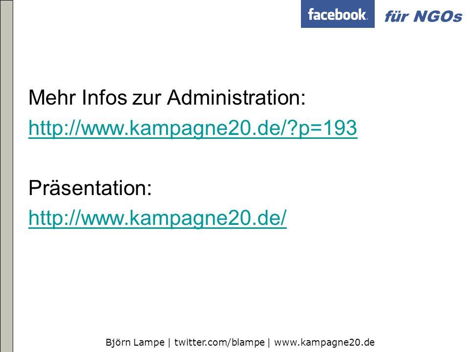 Mehr Infos zur Administration: