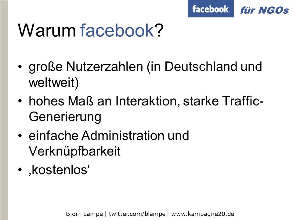 Warum facebook große Nutzerzahlen (in Deutschland und weltweit)