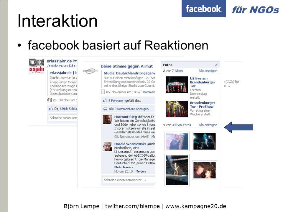 Interaktion facebook basiert auf Reaktionen