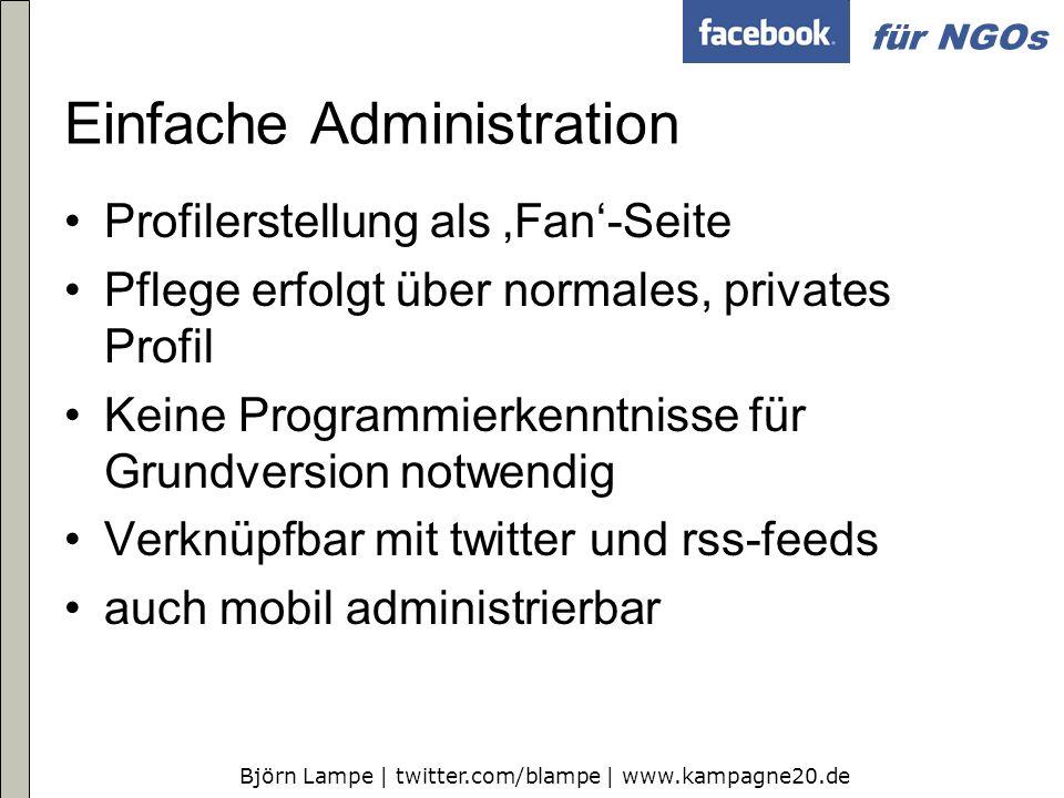Einfache Administration