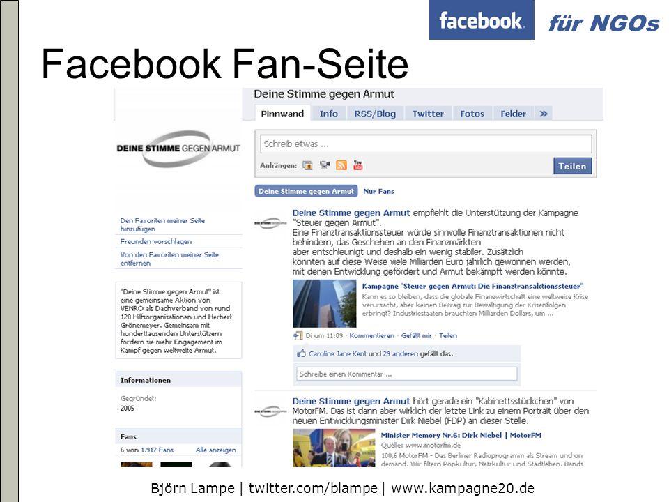 Facebook Fan-Seite