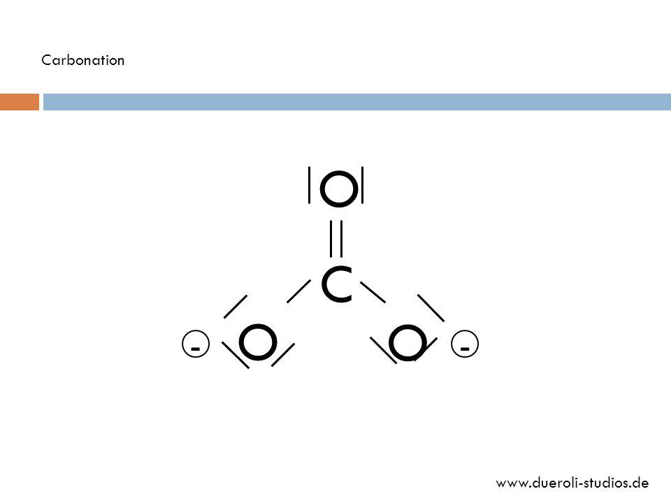 Carbonation O C O O - - www.dueroli-studios.de