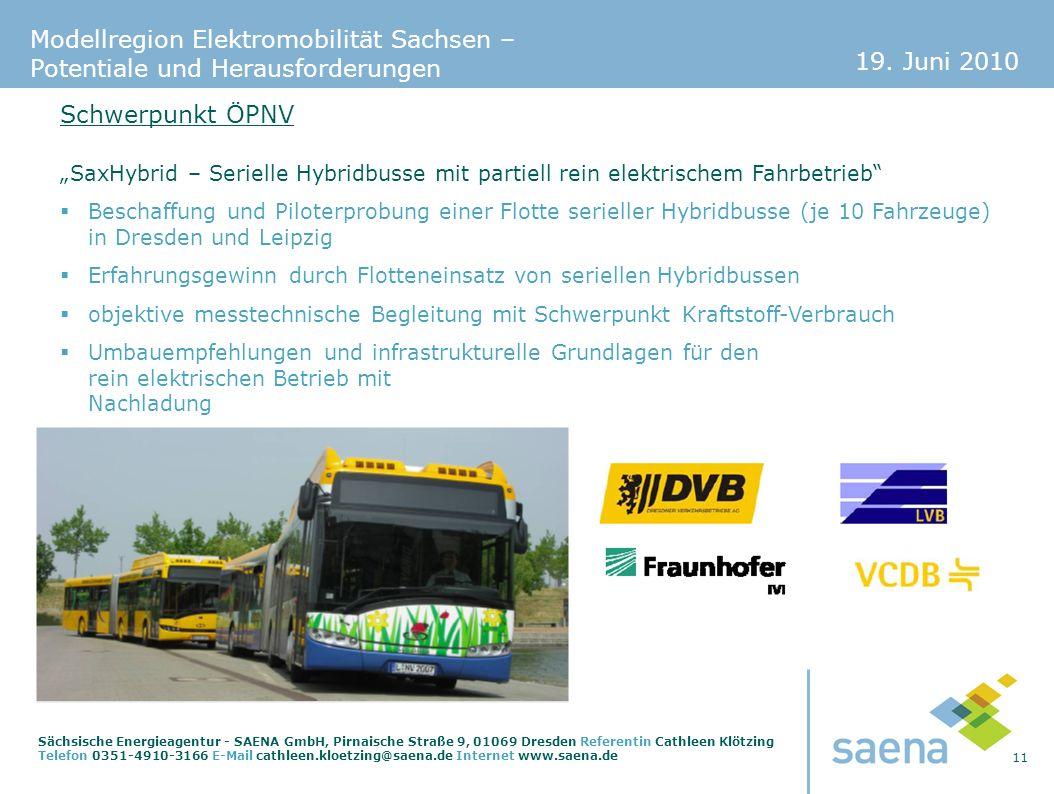 """Schwerpunkt ÖPNV """"SaxHybrid – Serielle Hybridbusse mit partiell rein elektrischem Fahrbetrieb"""