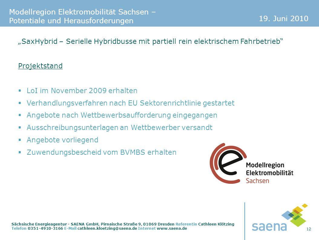 """""""SaxHybrid – Serielle Hybridbusse mit partiell rein elektrischem Fahrbetrieb"""