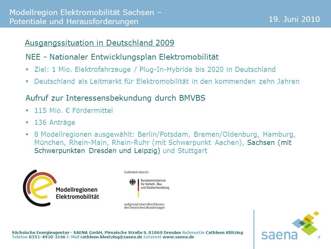 Ausgangssituation in Deutschland 2009