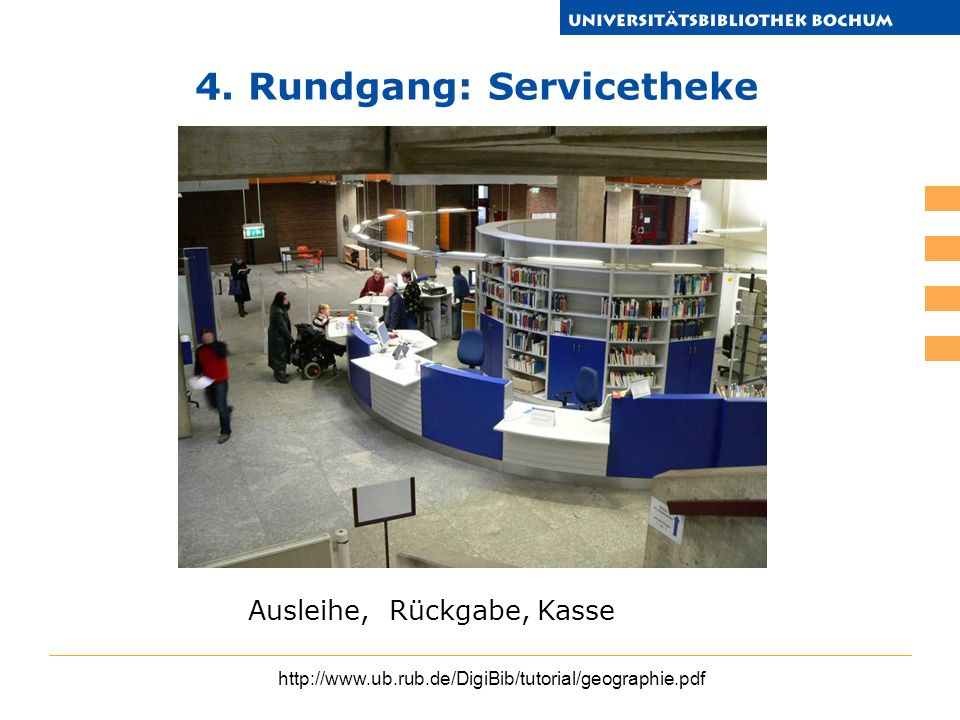 4. Rundgang: Servicetheke