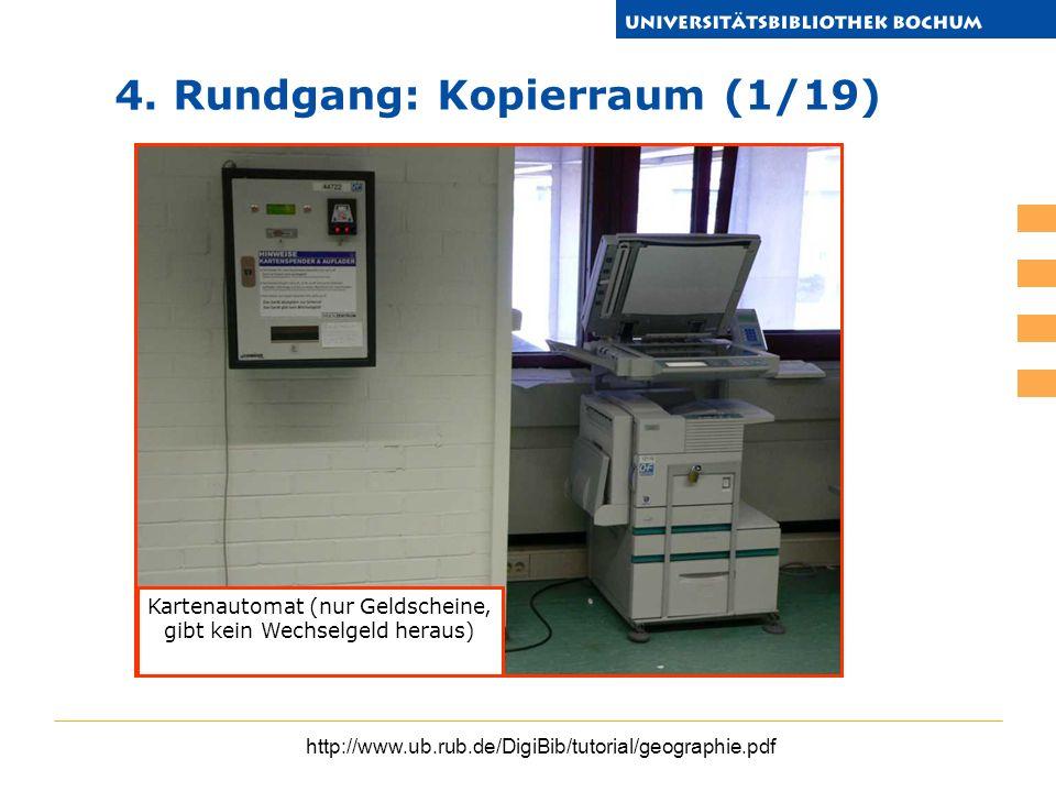 Kartenautomat (nur Geldscheine, gibt kein Wechselgeld heraus)