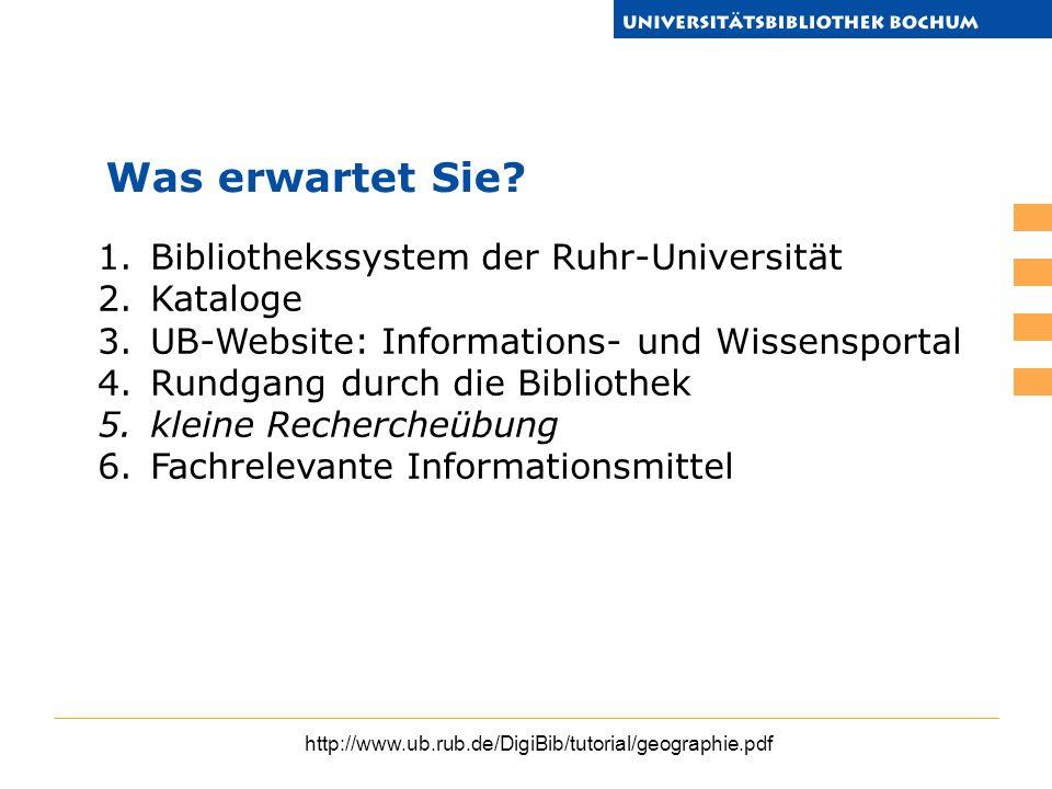 Was erwartet Sie Bibliothekssystem der Ruhr-Universität Kataloge
