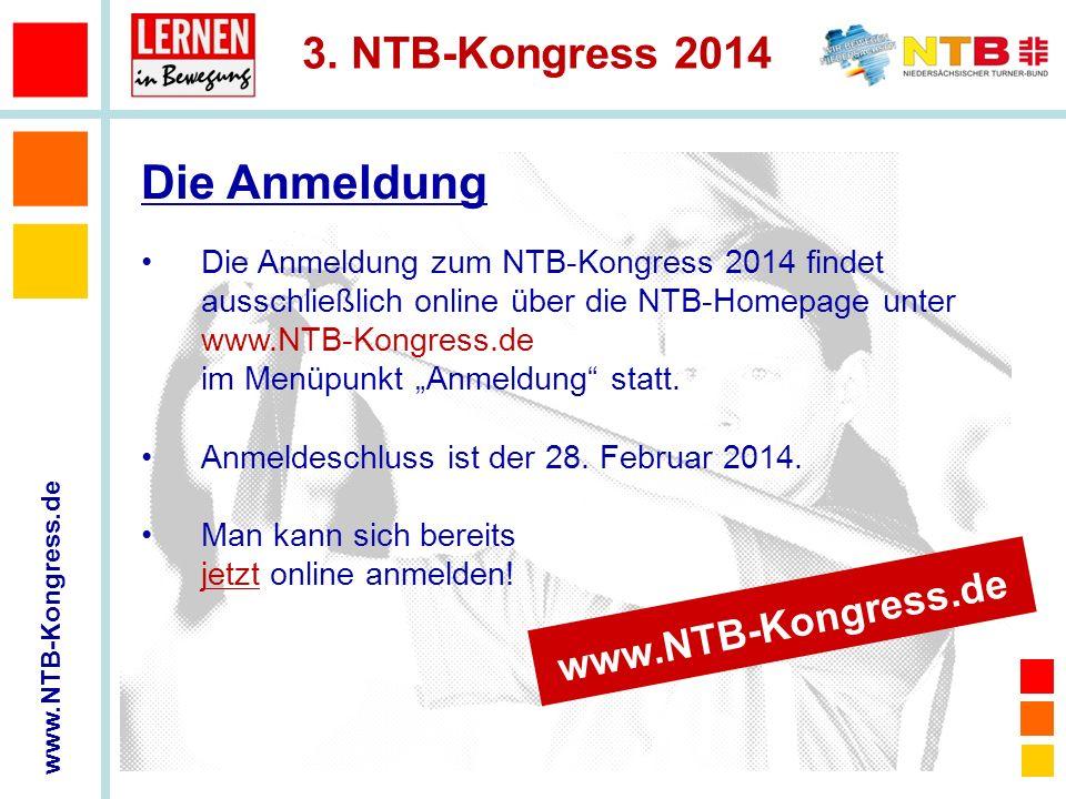 Die Anmeldung www.NTB-Kongress.de