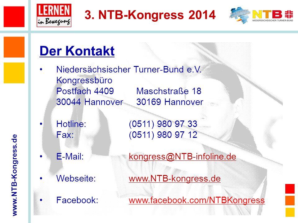 Der Kontakt Niedersächsischer Turner-Bund e.V. Kongressbüro