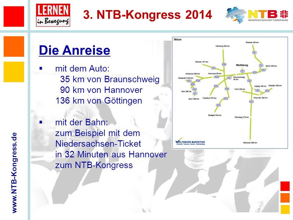 Die Anreise mit dem Auto: 35 km von Braunschweig 90 km von Hannover