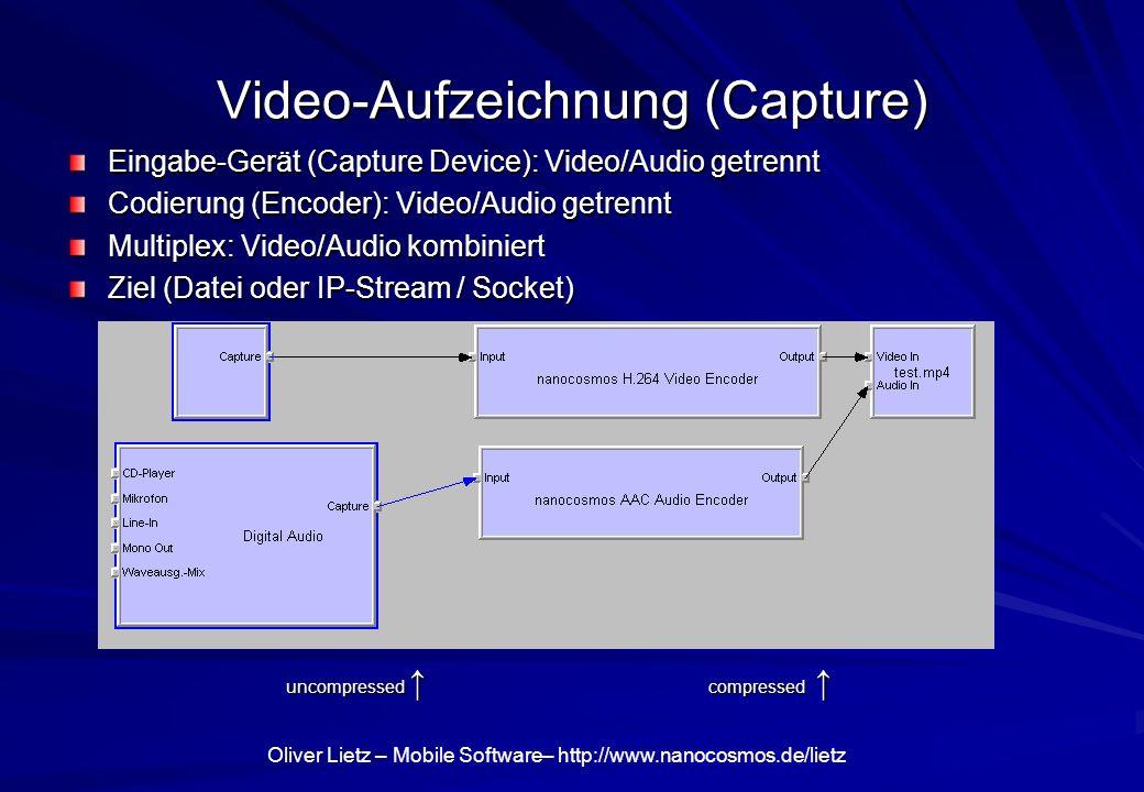 Video-Aufzeichnung (Capture)
