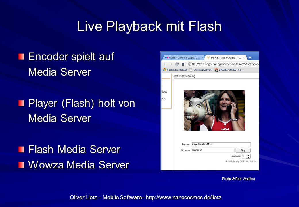 Live Playback mit Flash