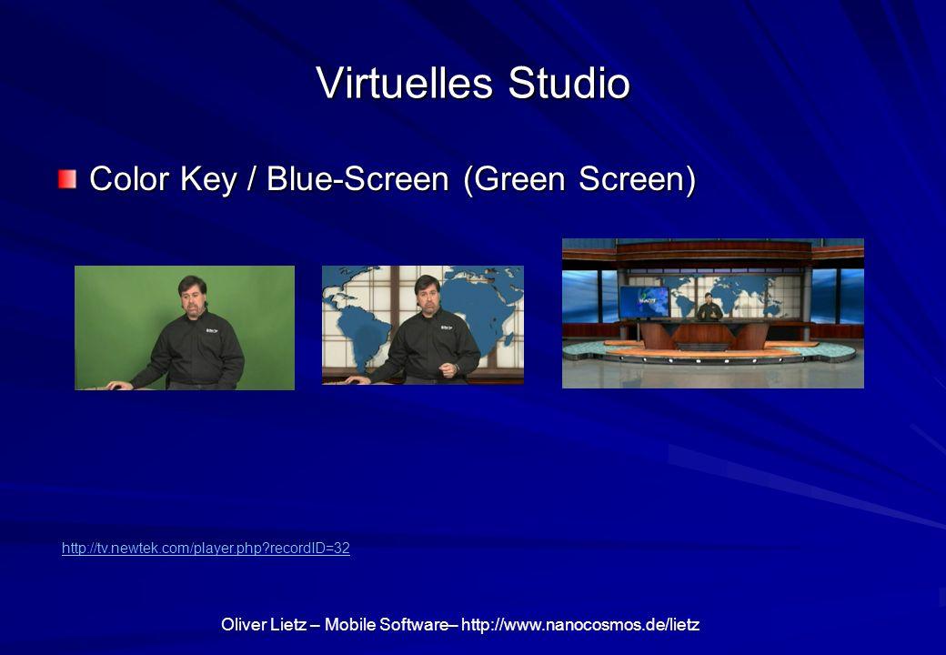 Virtuelles Studio Color Key / Blue-Screen (Green Screen)