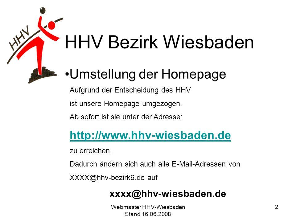 Umstellung der Homepage