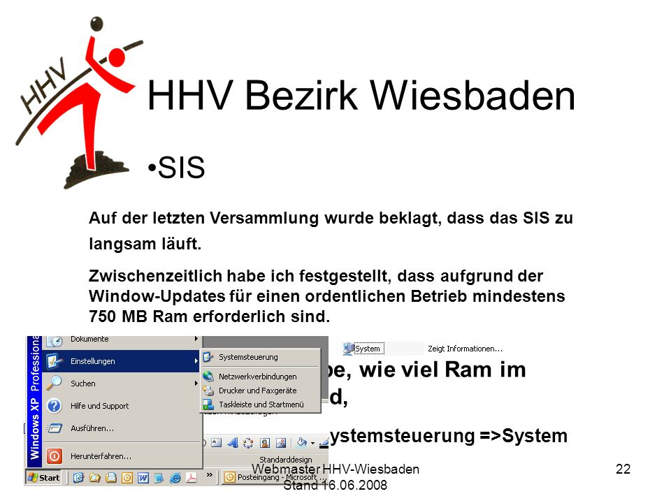 Webmaster HHV-Wiesbaden Stand 16.06.2008