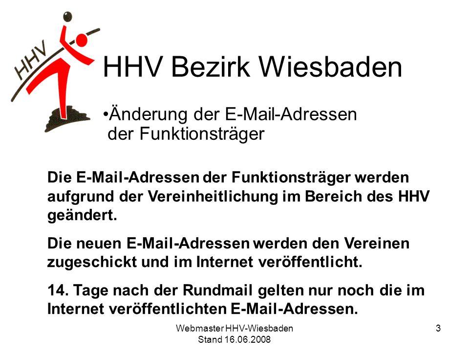 Änderung der E-Mail-Adressen der Funktionsträger