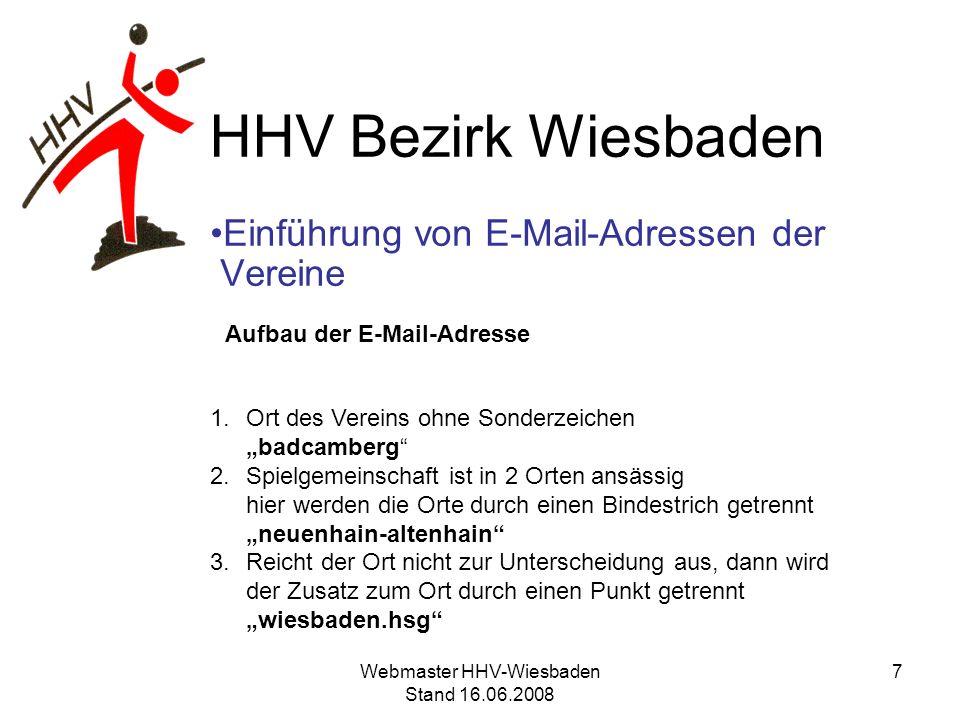 Einführung von E-Mail-Adressen der Vereine