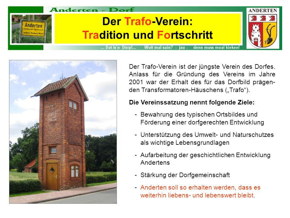 Der Trafo-Verein: Tradition und Fortschritt