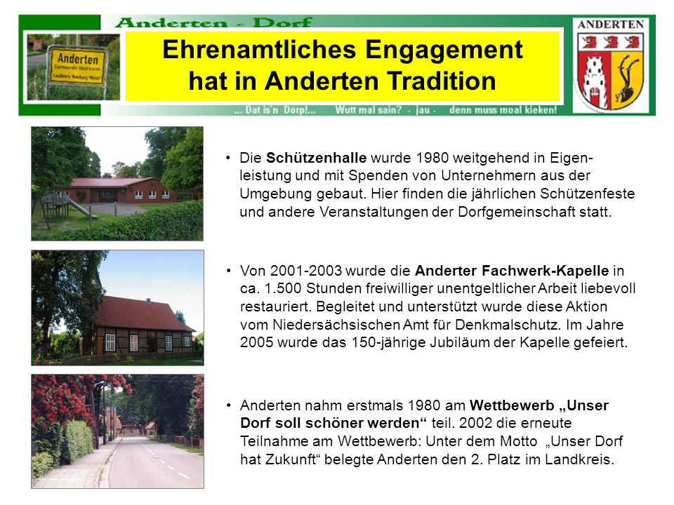 Ehrenamtliches Engagement hat in Anderten Tradition