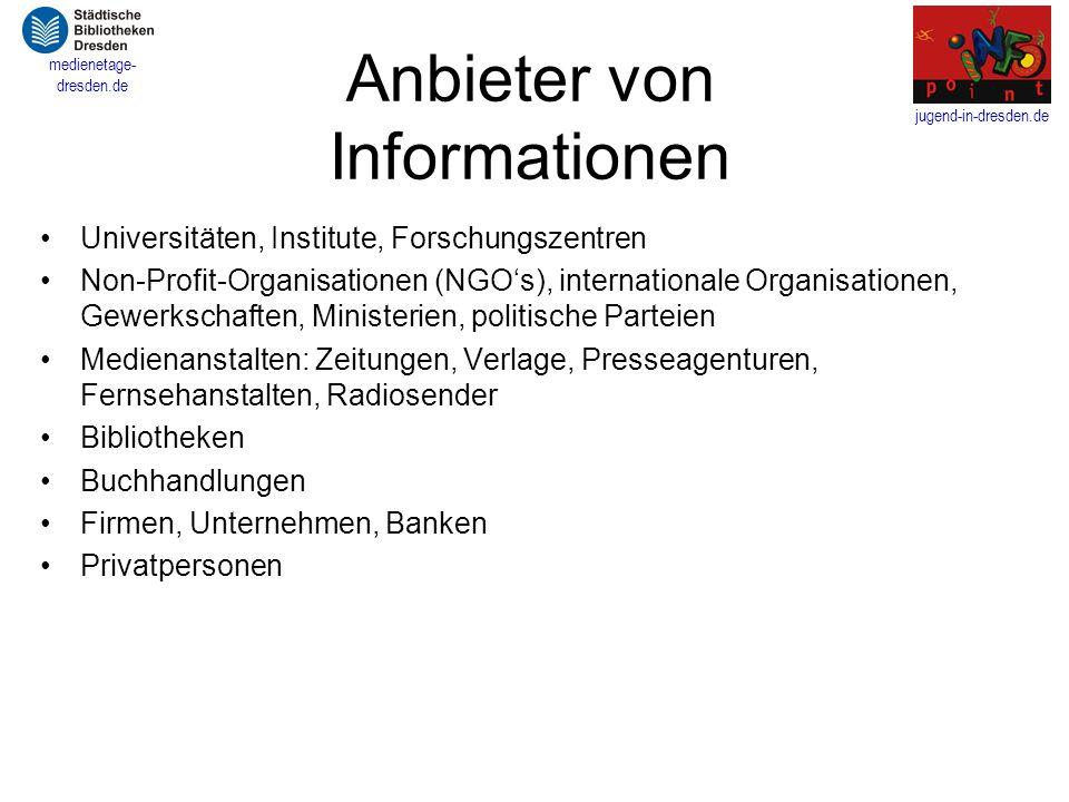 Anbieter von Informationen