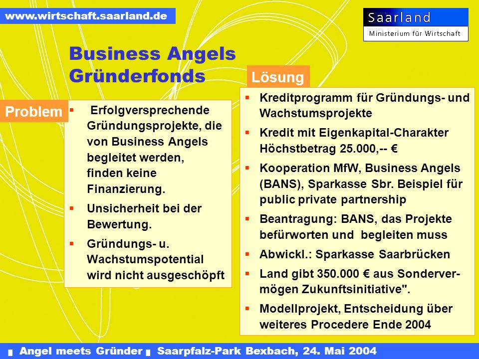 Business Angels Gründerfonds