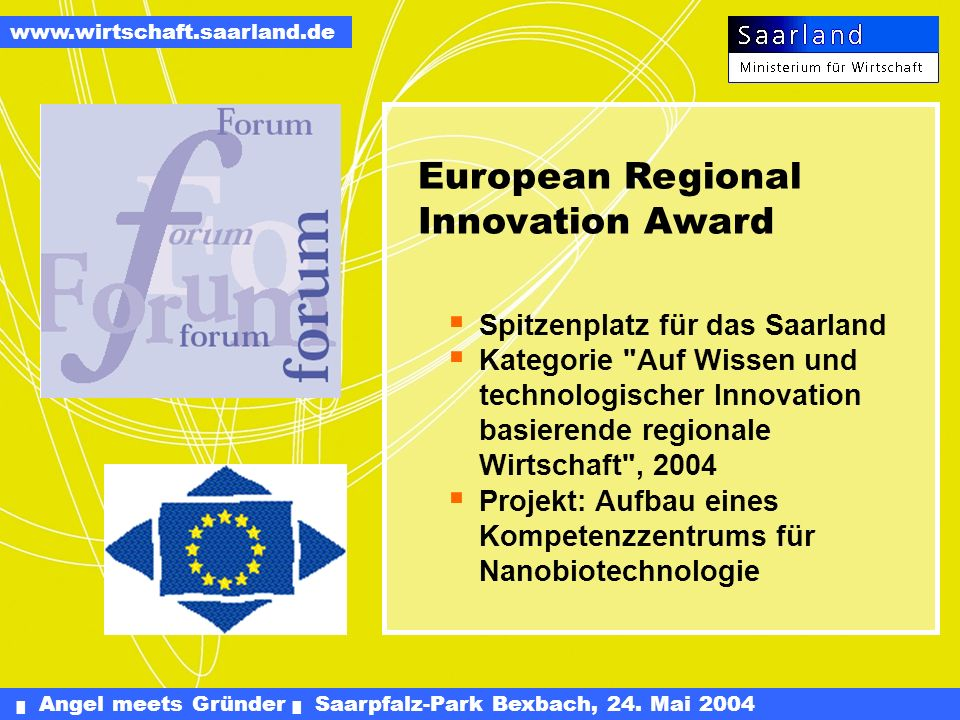 European Regional Innovation Award
