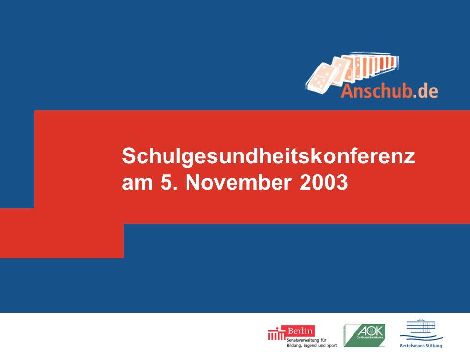 Schulgesundheitskonferenz am 5. November 2003