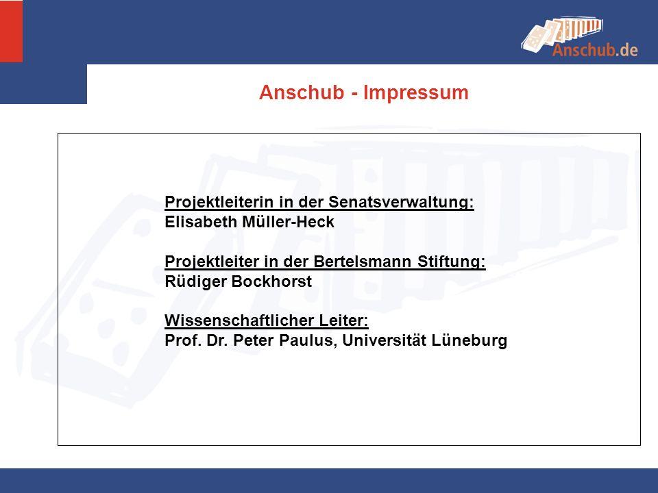 Anschub - Impressum Projektleiterin in der Senatsverwaltung: