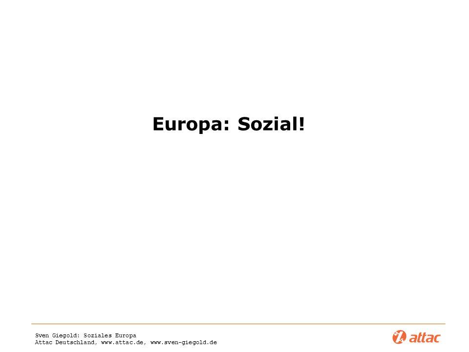 Europa: Sozial!