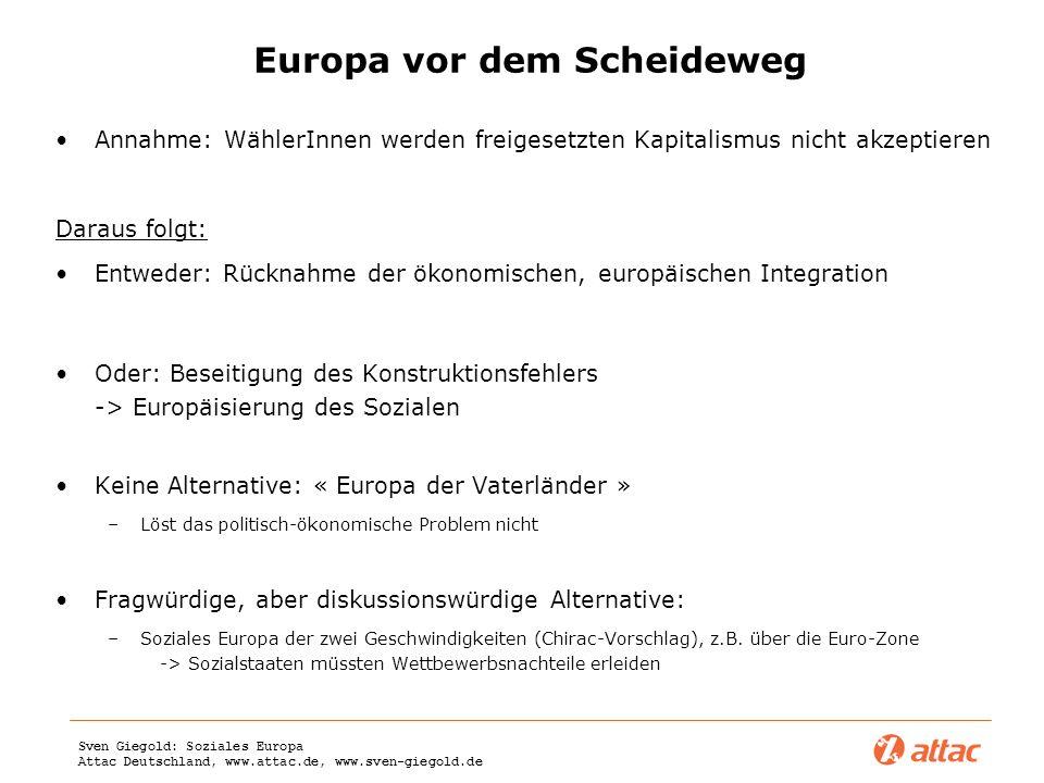 Europa vor dem Scheideweg