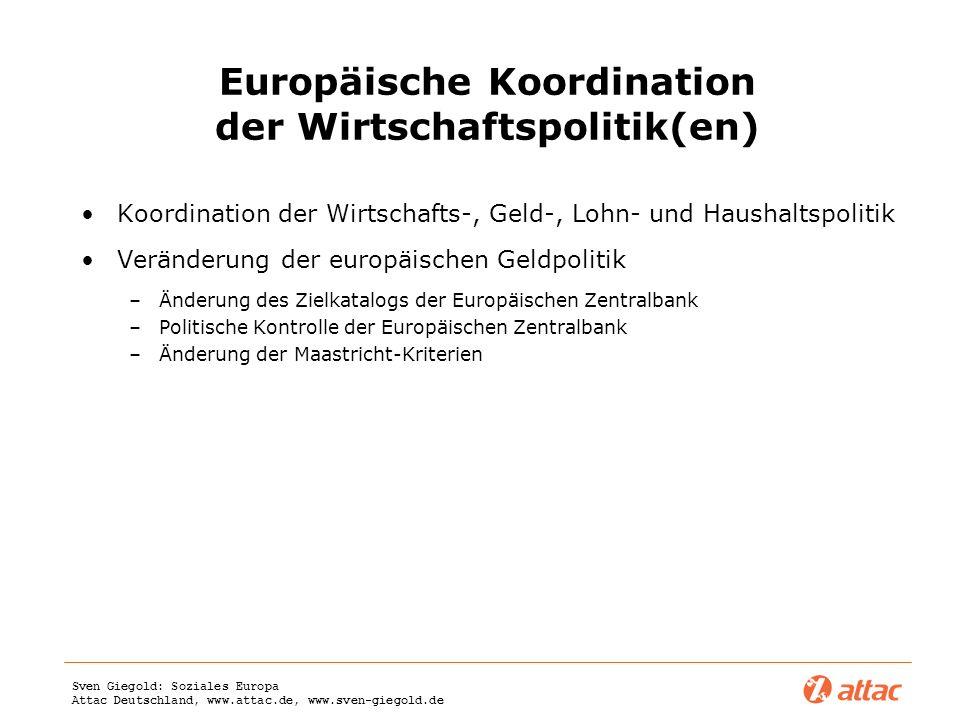 Europäische Koordination der Wirtschaftspolitik(en)