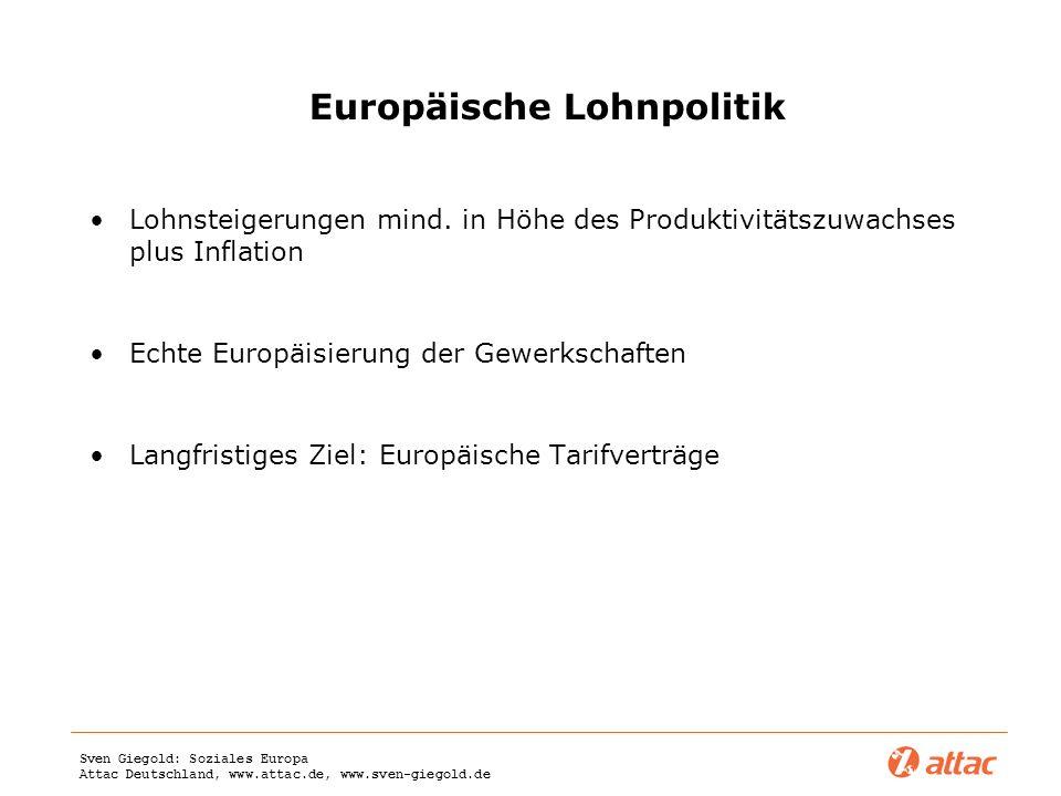 Europäische Lohnpolitik