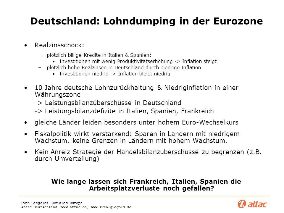 Deutschland: Lohndumping in der Eurozone