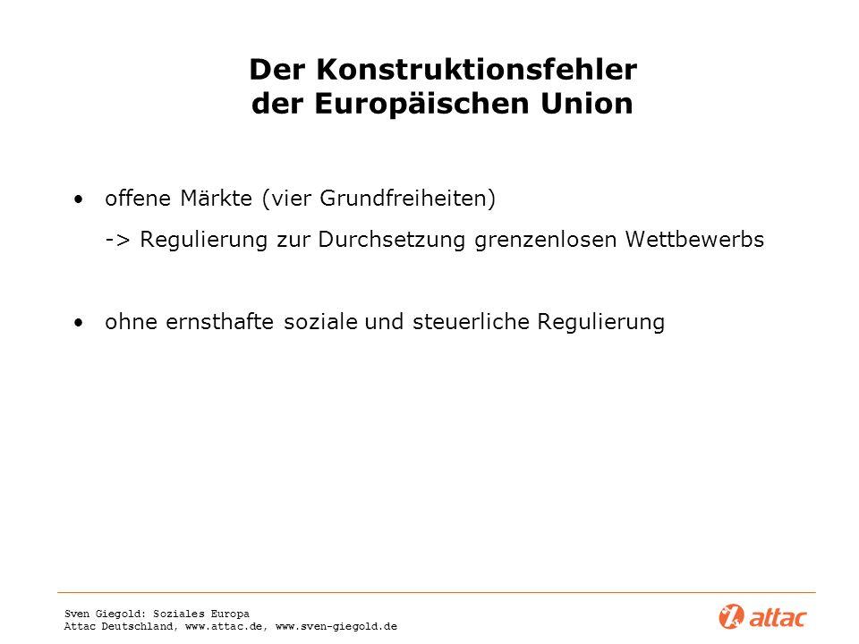 Der Konstruktionsfehler der Europäischen Union