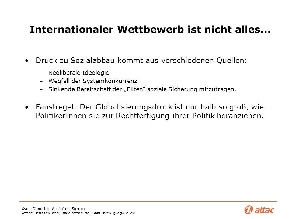 Internationaler Wettbewerb ist nicht alles...